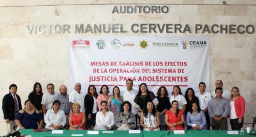 Buscan mayor coordinación interinstitucional en sistema penal de adolescentes