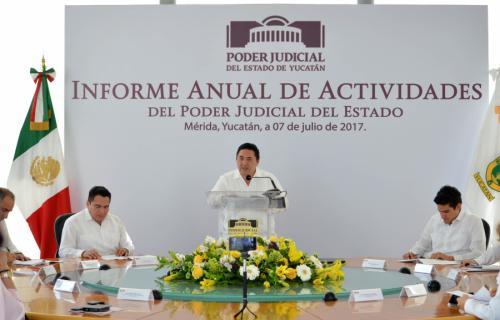 Enfrenta Poder Judicial de Yucatán retos con entereza